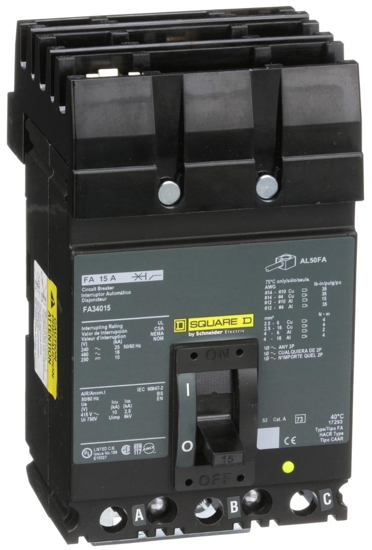 FA34015 Square D Circuit Breaker